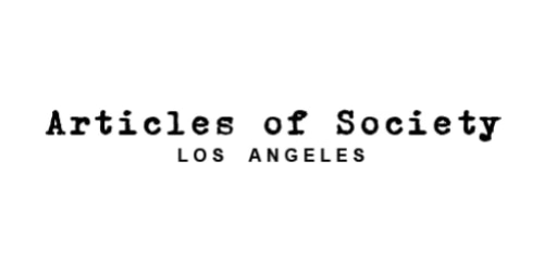 Articles of Society coupon