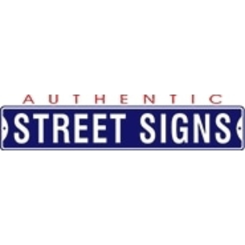 Authentic Street Signs