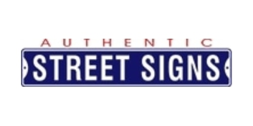 Authentic Street Signs coupon