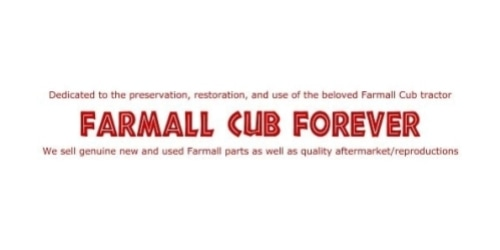 Farmall Cub Forever coupon