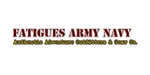 Fatigues Army Navy coupon