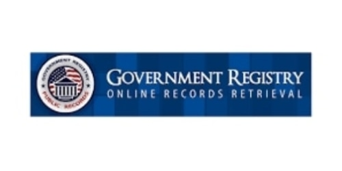GovernmentRegistry.org coupon