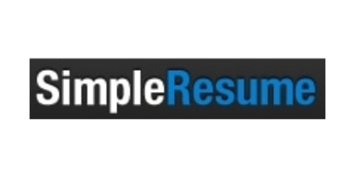 Simple Resume coupon