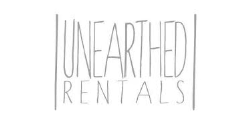 Unearthed Rentals coupon