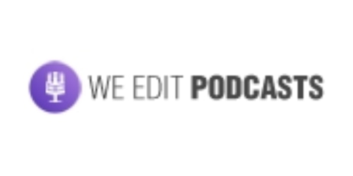 We Edit Podcasts coupon